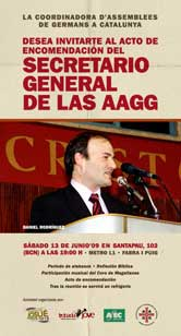 ACTE D'ENCOMANACIÓ DEL NOU SECRETARI GENERAL DE LES ASSEMBLEES DE GERMANS A CATALUNYA