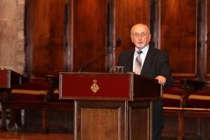 Enric Capó Puig, pastor de l'Església Evangèlica de Catalunya, en un moment de la seva intervenció
