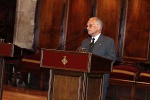 Armand Urrutia Agraz, exdirector de l'Hospital Evangèlic de Barcelona, en un moment de la seva intervenció
