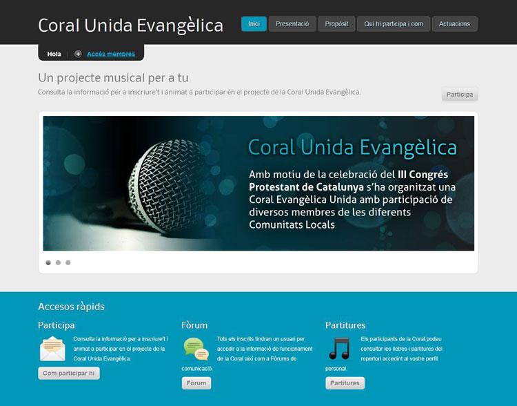 Coral Evangèlica Unida: Participa-hi!
