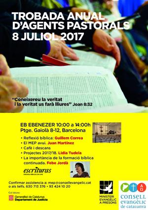 TROBADA ANUAL D'AGENTS PASTORALS PENITENCIARIS 2017